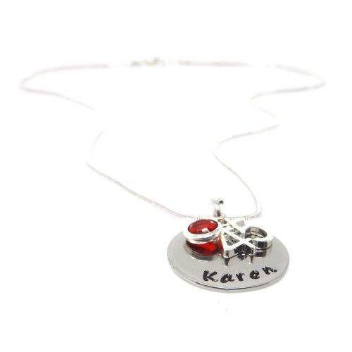 Personalised 45th Birthday Birthstone Necklace - Gift Boxed & Free Delivery UK